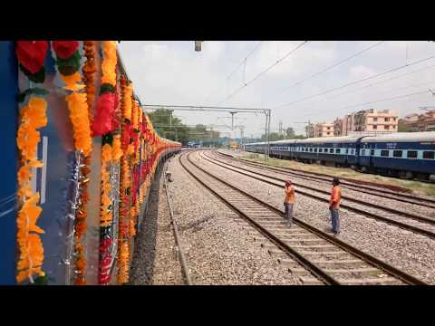 Very first Solar train journey in India between Delhi Safdarjung station and Nizamuddin