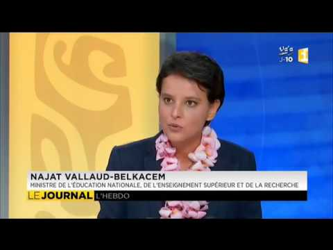 Najat Vallaud-Belkacem, invitée du journal