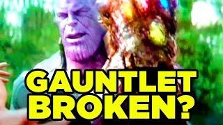 Infinity War - IS THE GAUNTLET BROKEN? #NerdTalk