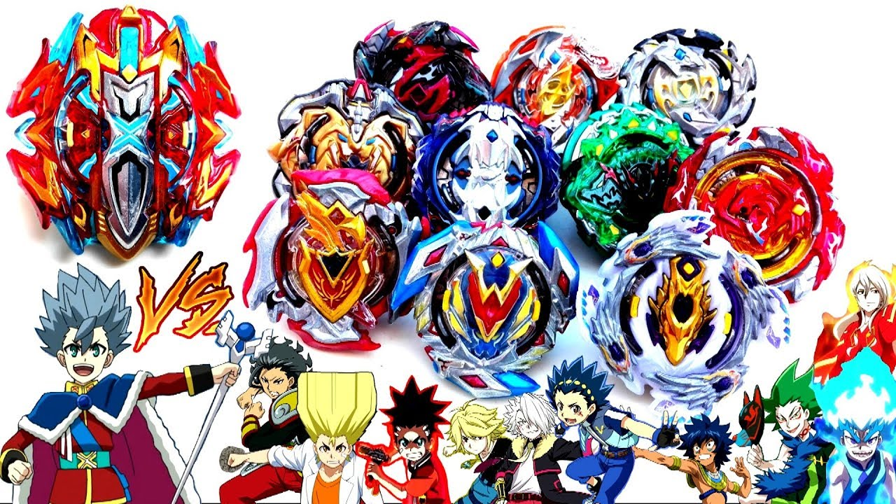 buster xcalibur vs all choz beybladeslet's test it