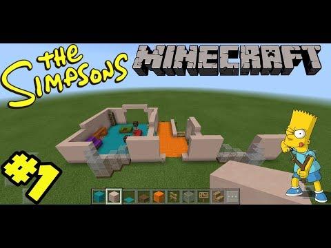 Minecraft Springfield Build - The Simpson's House Pt1
