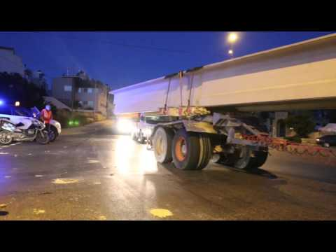 Transportation of concrete structures to Lidl site