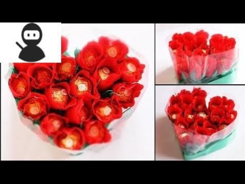 Heart Shape Chocolate Bouquet Making Valentine S Day Gift Idea