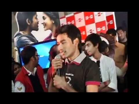 Dhanush And Anirudh Interacting With The Crowd At Music Launch Of 3 #kolaveri