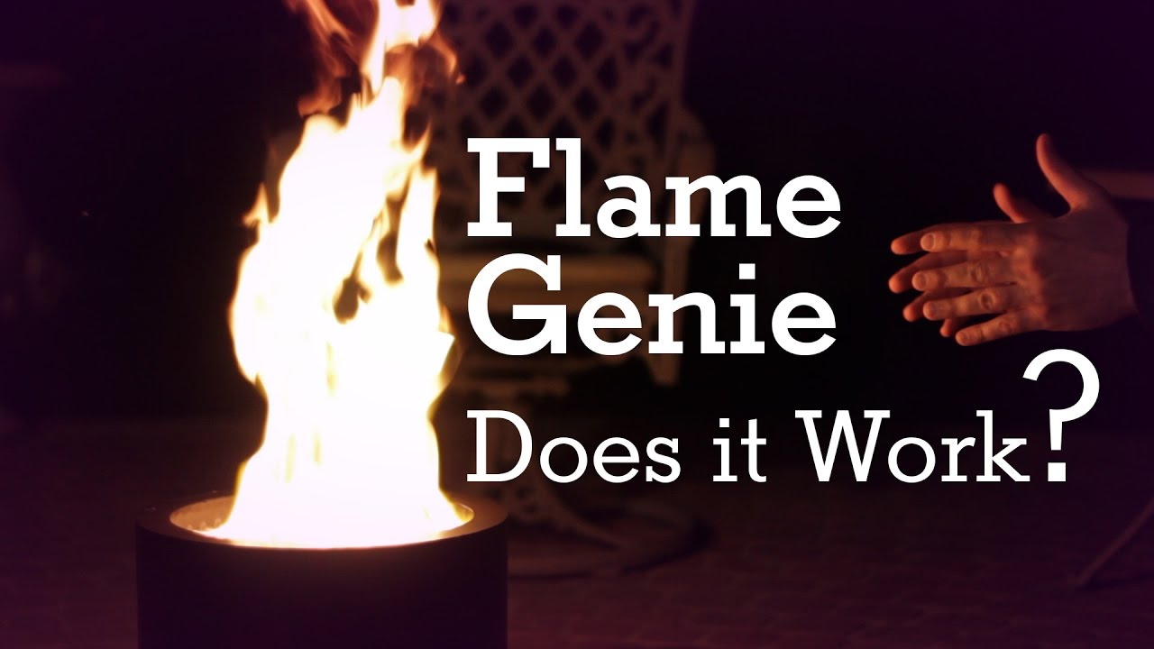 flame genie smokeless fire pit does it really work