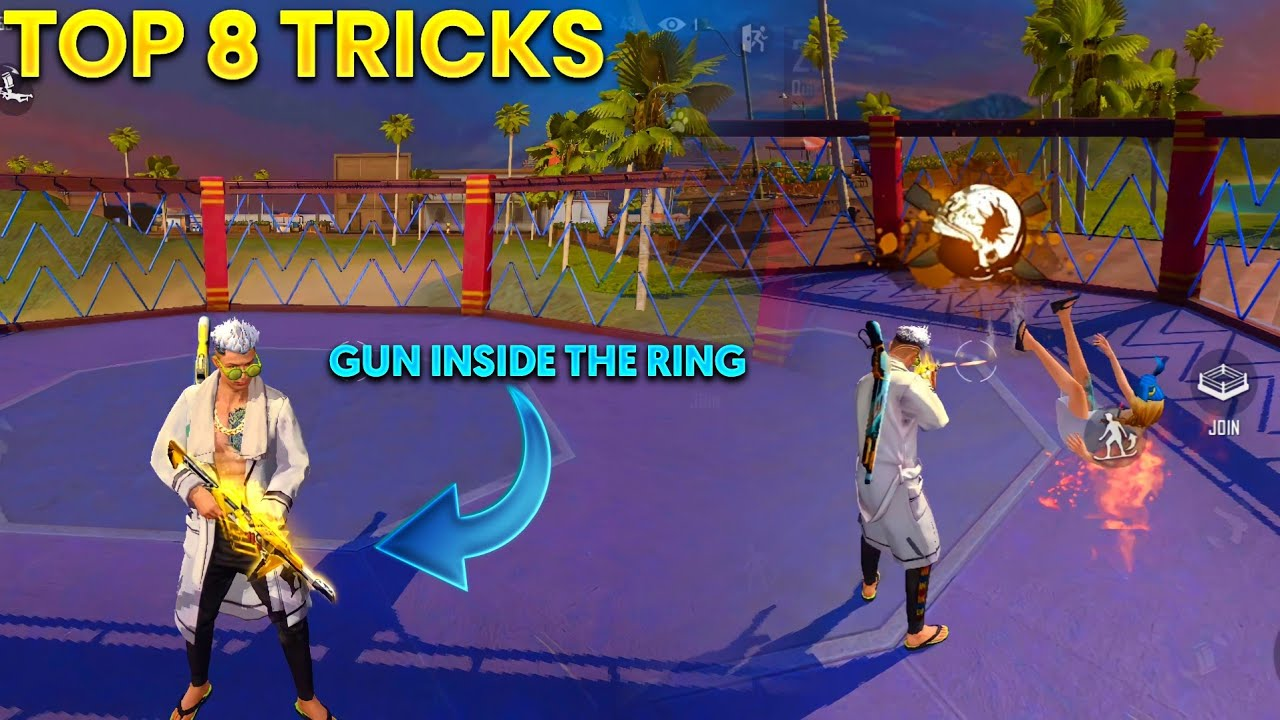 Top 8 unknown Tricks To surprise your friends and enemies || training mode after update OB27 tricks