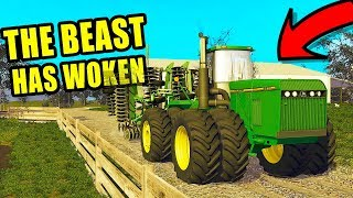 JD 8970 FIRST DAY ON THE JOB! PULLING 50FT DISK | FARMING SIMULATOR 2017