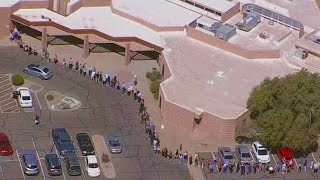 Arizona voters experienced long lines at the polls Tuesday, leaving many people discouraged from voting.