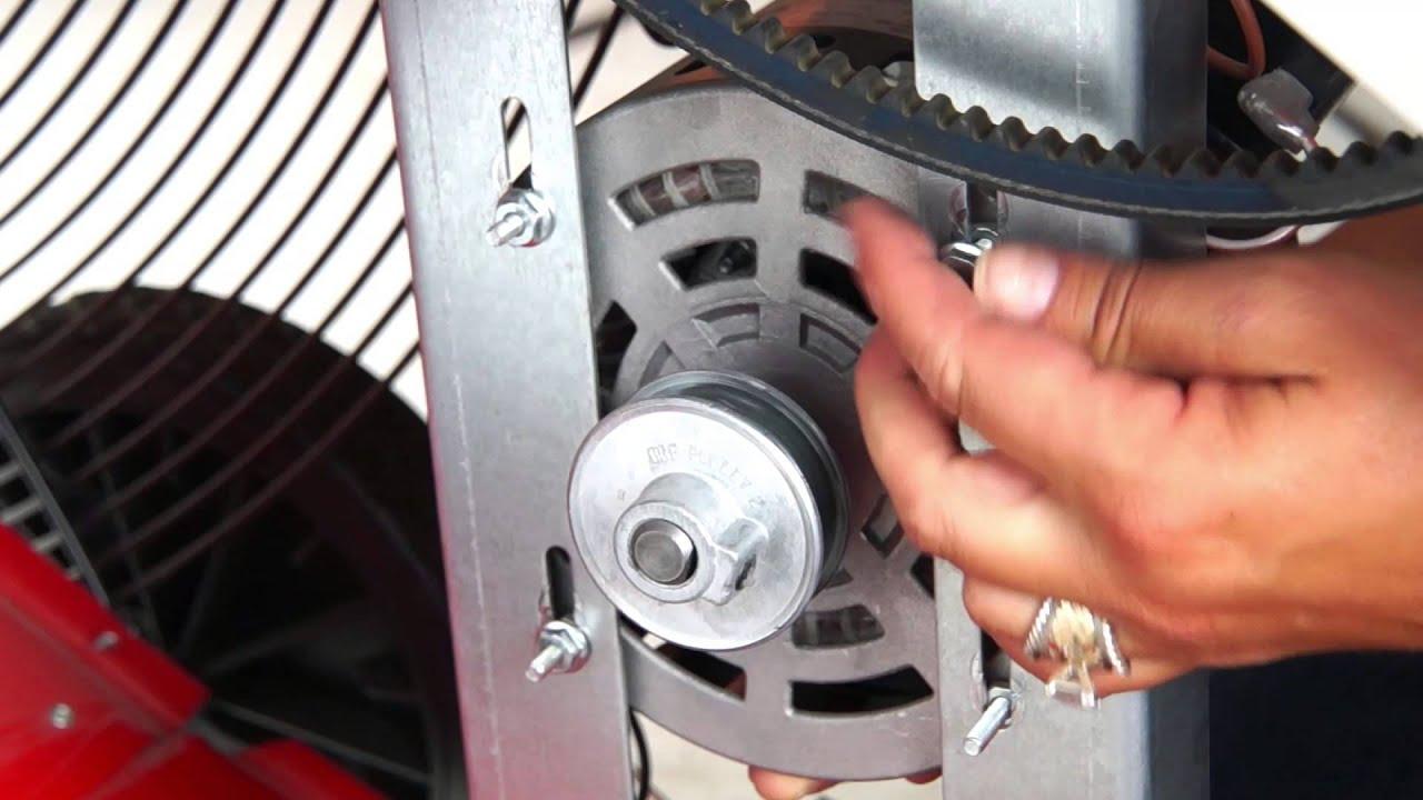 XE425  Barrel Fan Motor Replacement  YouTube
