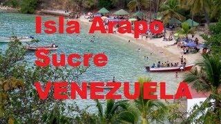 Isla Arapo en Sucre Venezuela, delfines y playa colorada Julio 2013