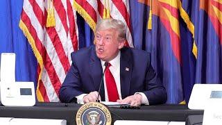 Covid-19 : en Arizona, Donald Trump appelle à relancer l'économie coûte que coûte