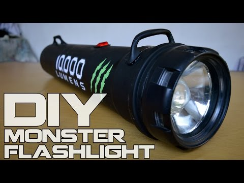 How To Make Monster Flashlight 10 000 Lumens Youtube