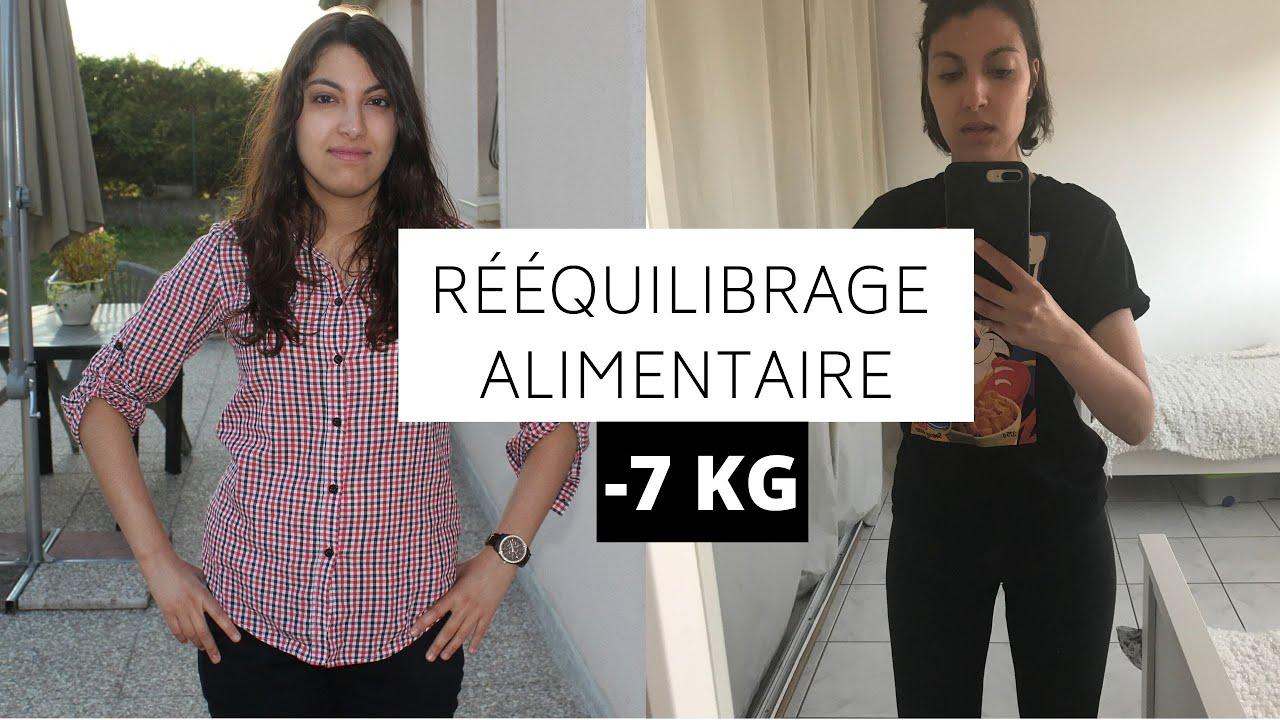 Rééquilibrage alimentaire, ma perte de poids -7kg (avant..