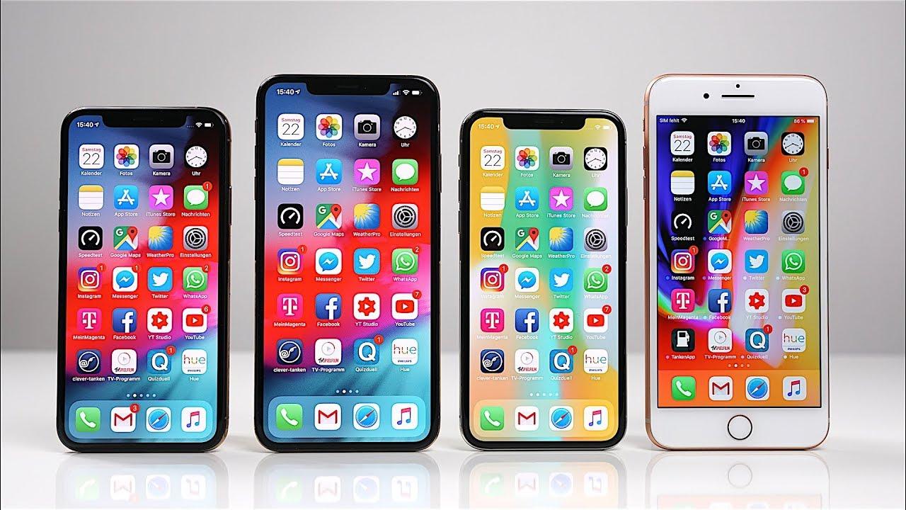 vergleich iphone 8 und xs