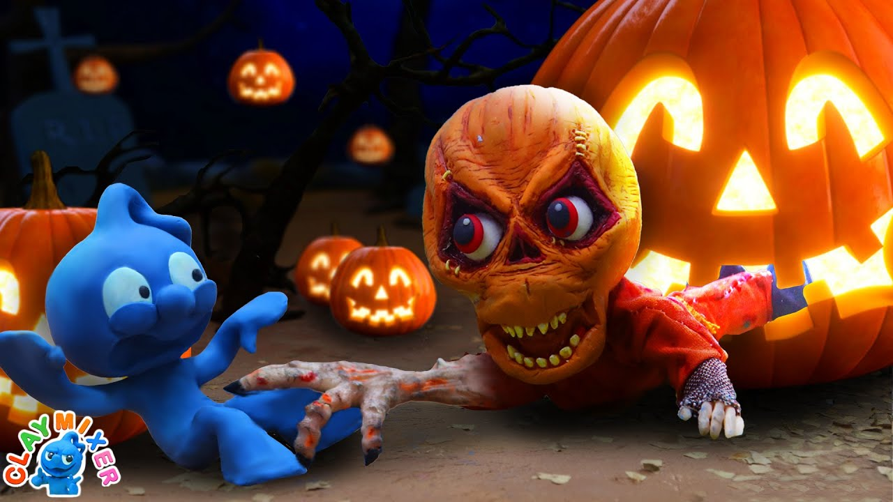 Tiny Gets Seriously Spooked by Halloween Sam - Movie Stop Motion Animation Cartoons