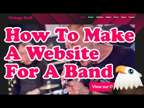 How to make a website for a band using WordPress