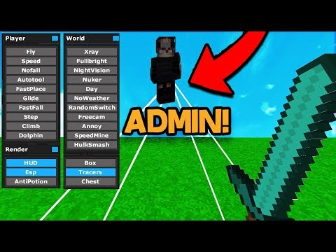 HACKING INFRONT OF THE ADMIN ON MINECRAFT! *Bad Idea*