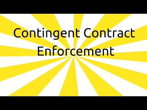 Enforcement of Contingent Contract | Contingent & Quasi Contract | CA CPT | CS & CMA Foundation