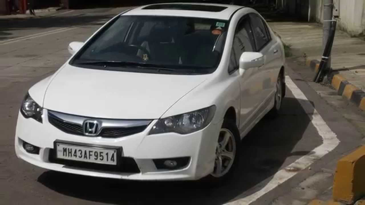 2011 honda civic vmt with sunroof mumbai youtube for Honda civic sunroof