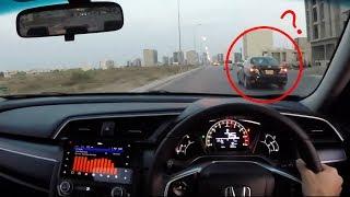 Honda Civic 2017 Sunset Drive   POV   In Karachi Pakistan