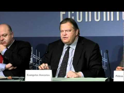 Q and A with Venizelos: The Greek Debt Crisis