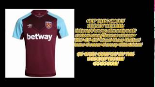 EDMONDSOCCERSHOP.COM - 17/18 WEST HAM HOME JERSEY!!!!! - 5 STARS UNBOXING REVIEW!!! GREAT!!