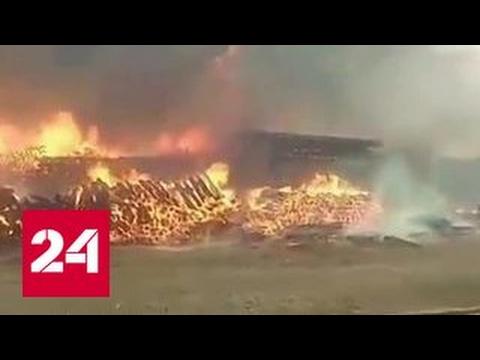 Горящие шпалы на БАМе тушили 8 часов: видео