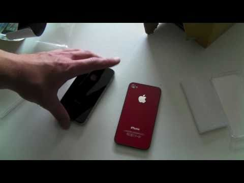 Red Back Cover For IPhone 4 (Disassembling Inside)