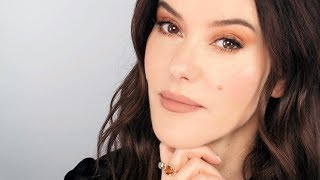 Peachy Caramel Tonal Makeup Look