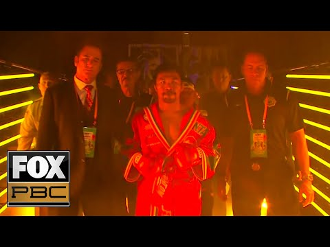 Manny Pacquiao, Keith Thurman Make Entrances For Main Event Title Fight | PBC ON FOX