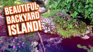 *GARDEN KOI POND* with Emerald Island