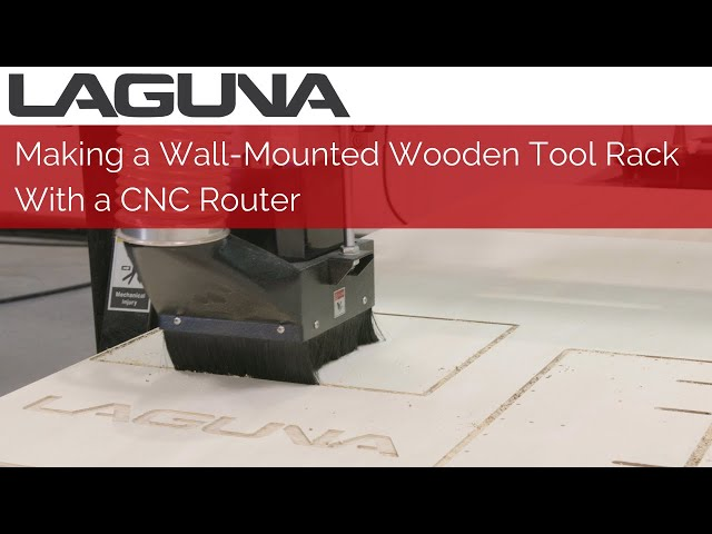 Making a Wall-Mounted Wooden Tool Rack | CNC Router