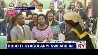Kyadondo East MP, Robert Kyagulanyi (aka Bobi Wine), swears in and takes his place in Parliament thumbnail