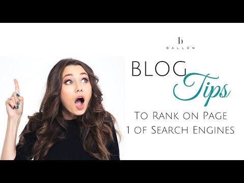 Tips to Creating a Blog Designed to Rank on Page 1 of Search Engines [34:28]