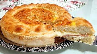 Pão tipo Italiano – Recheado de Presunto e Queijo – É muito Fácil e Gostoso