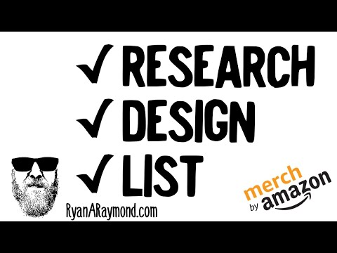 Merch By Amazon Tutorial How to Research Design and List a Low Competition Design thumbnail