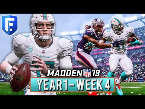 (HD QUALITY FIXED) Madden 19 Dolphins Franchise Year 1 - Week 4 @ Patriots | Ep.5