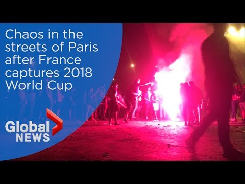 World Cup 2018: Thousands celebrate France's World Cup victory