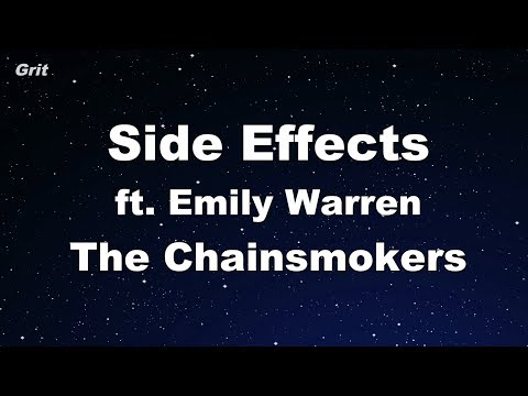 Side Effects ft Emily Warren  The Chainsmokers Karaoke 【With Guide Melody】 Instrumental