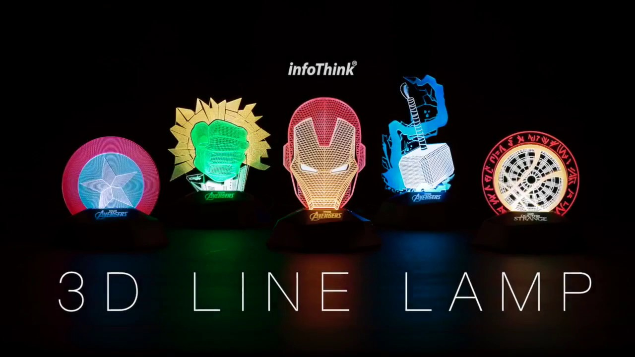 InfoThink Marvel 3D Line Lamp