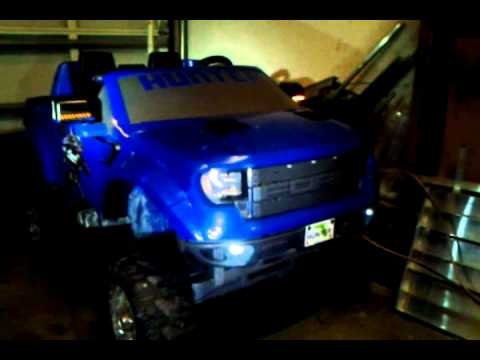 LIFTED Ford Raptor F150 POWER WHEELS - YouTube
