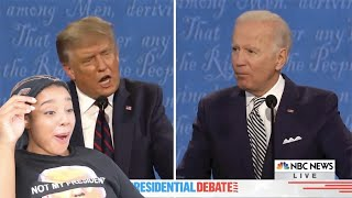 Funniest Most Ratchet Moments From The First Presidential Debate 2020 | Reaction