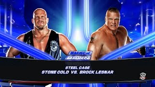 WWE 2K15 PC Gameplay - Stone Cold Vs Brock Lesnar - Steel Cage Match