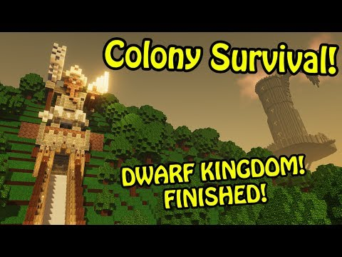 OVER 1,000 COLONISTS! :D - Dwarven Kingdom Complete! | Colony Survival Giant Kingdom #9