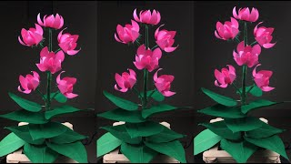 How To Make Beautiful Paper Flower| Paper Crafts For School | Paper Flowers Easy | Paper Flowers