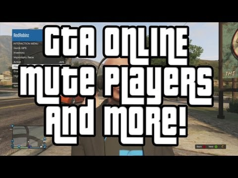 GTA 5 Online Mute Players and Suicide Button (GTA ONLINE)