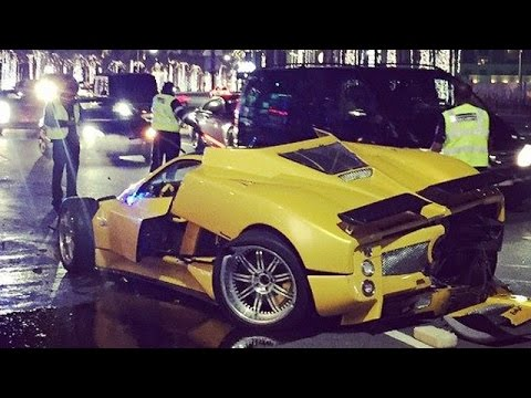 Rare Pagani Zonda F Crashes In Dubai - YouTube