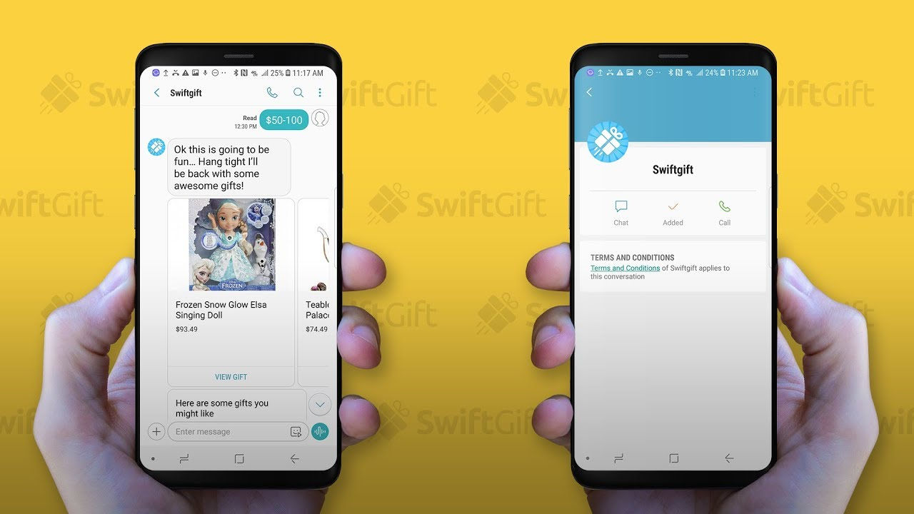 Rich Communication Services - SwiftGift Samsung Messaging