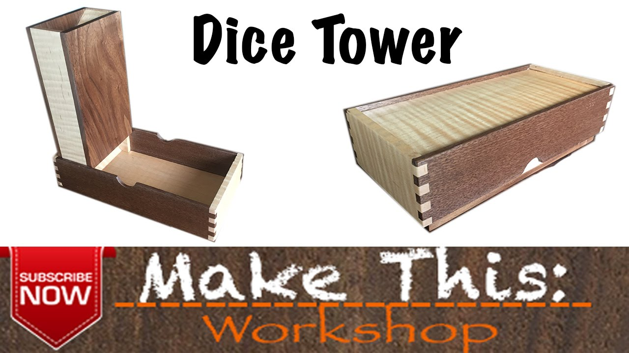 Make This: Dice Tower   YouTube