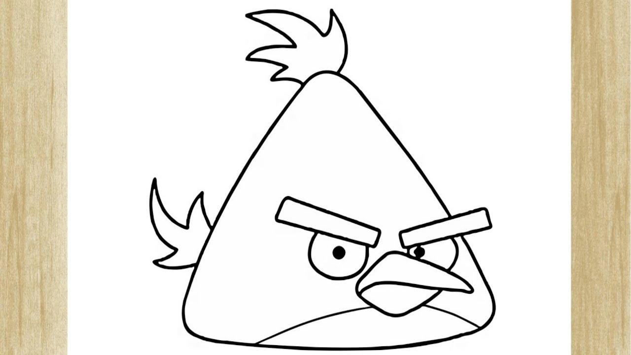 Como Desenhar O Chuck O Passaro Amarelo De Angry Birds Youtube